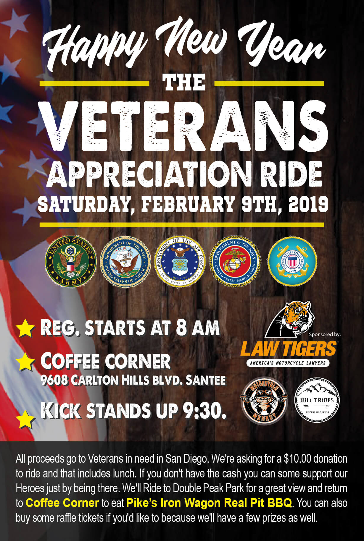 Clint's Ride Club and 2nd Annual Vet Appreciation Ride