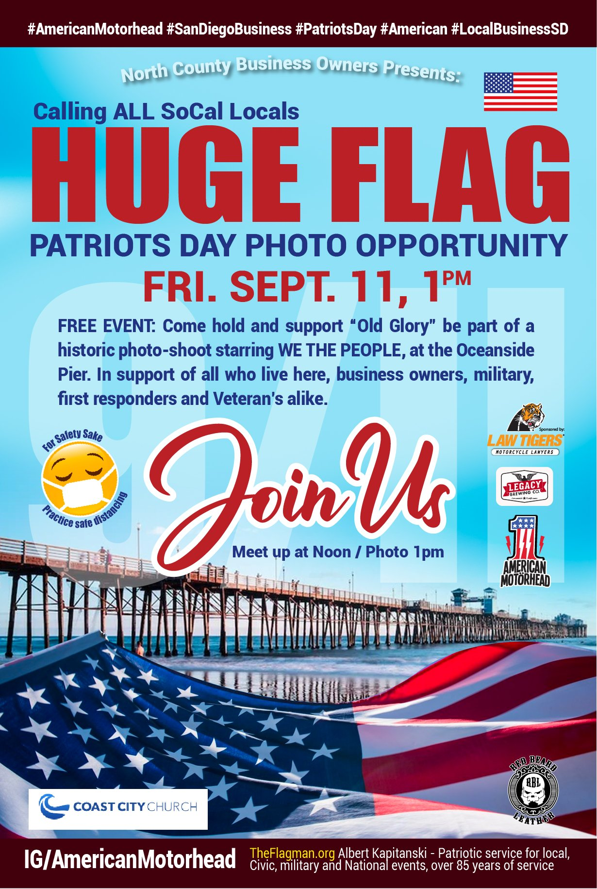 Patriot's Day Flag Unfolding