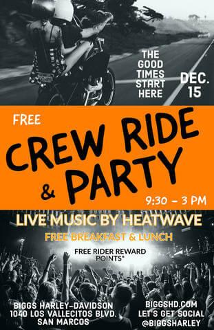 Free Crew Ride & Party