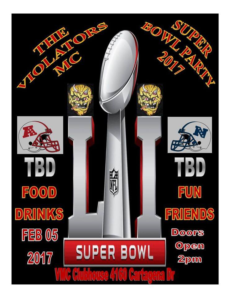 Violators MC Superbowl Party