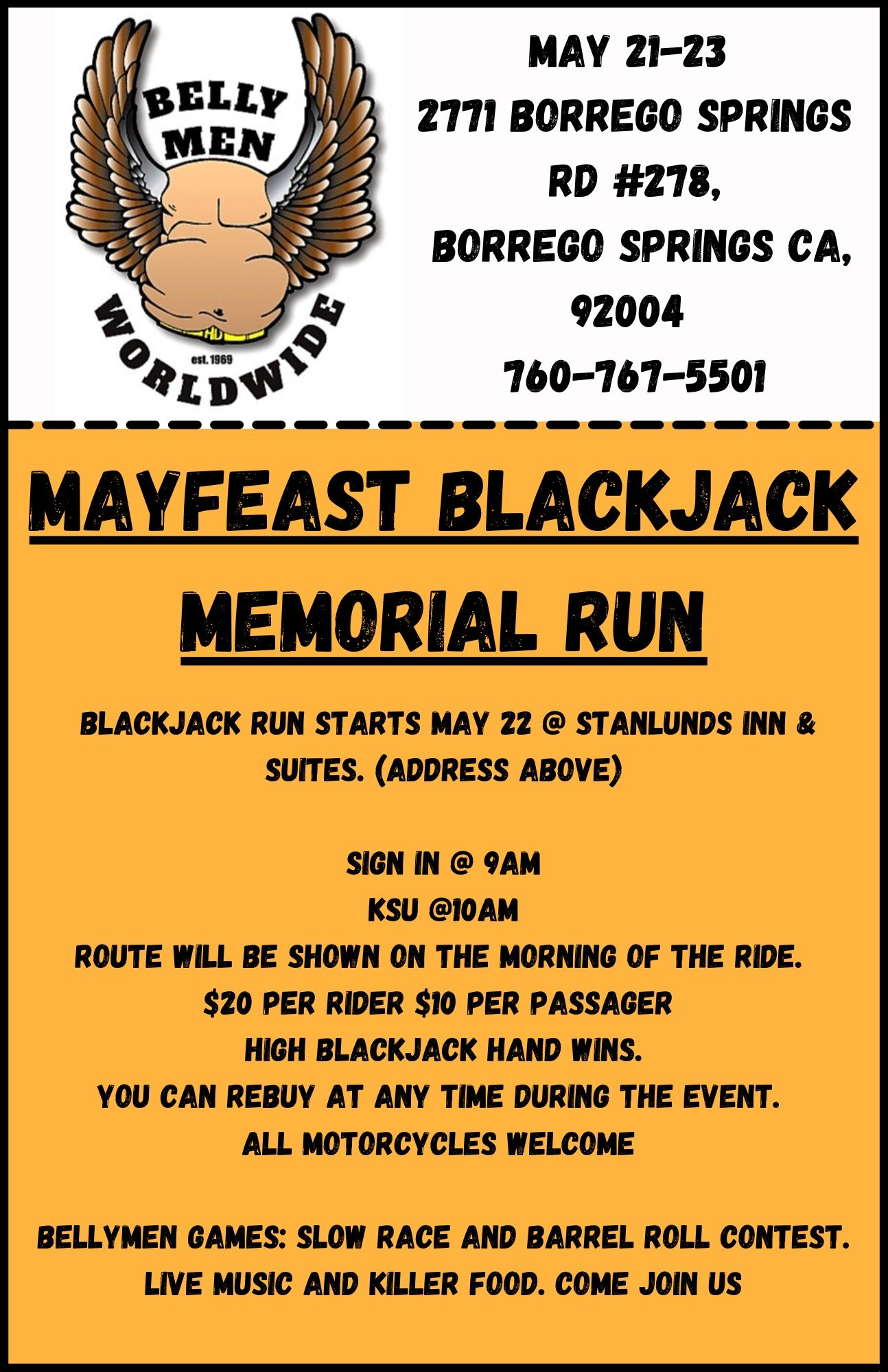 Bellymen May feast Memorial Run