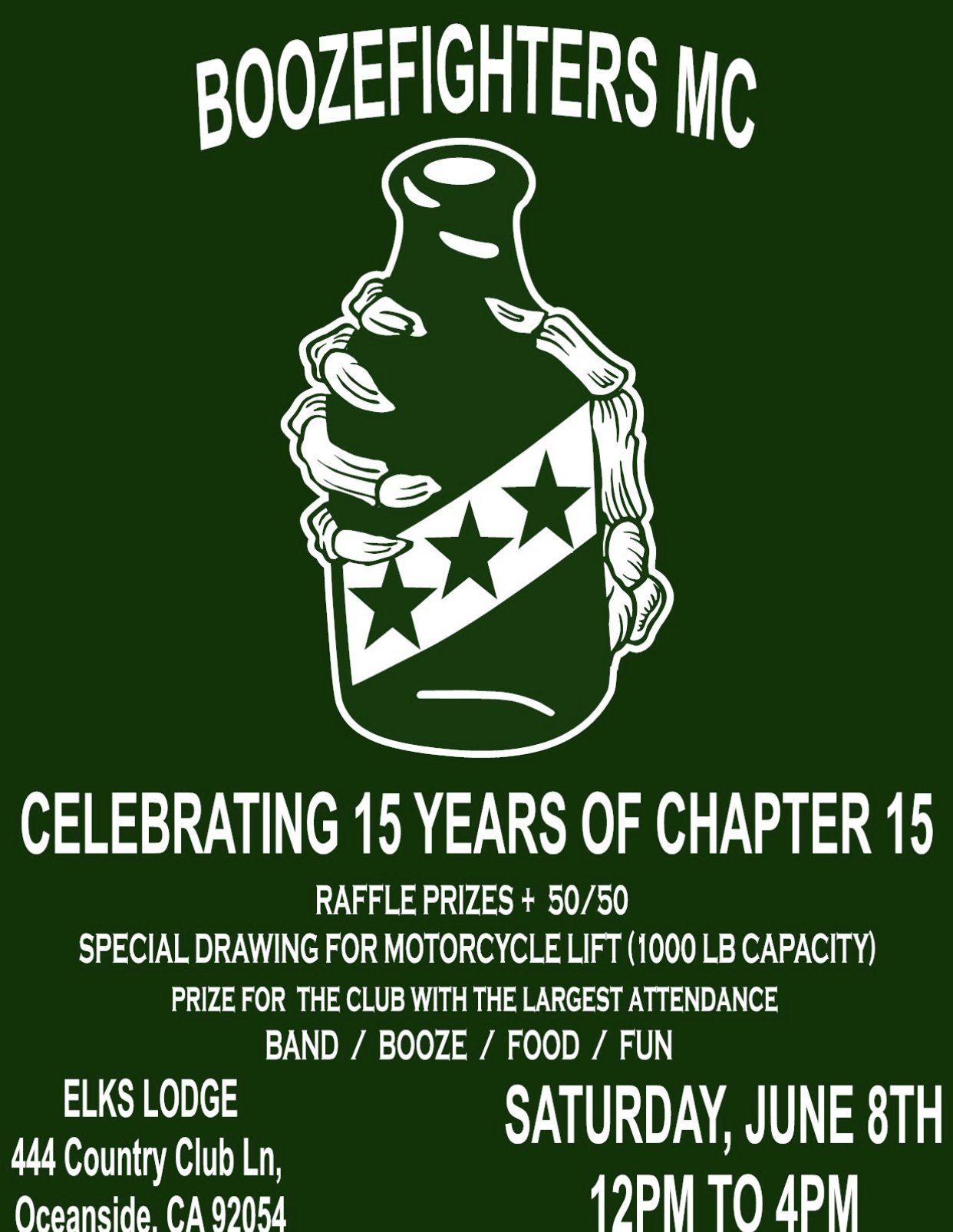 Boozefighters MC 15th Anniversary party Chapter 15