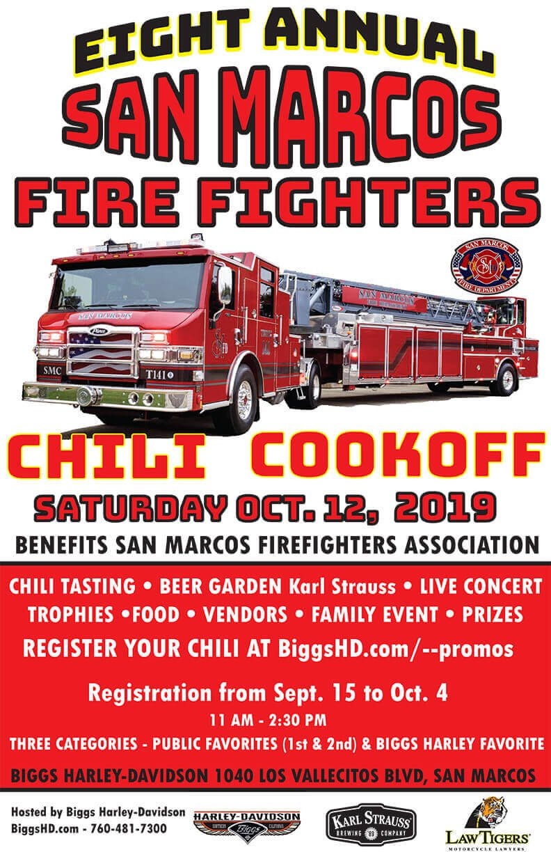 8th Annual San Marcos Firefighters Chili Cookoff