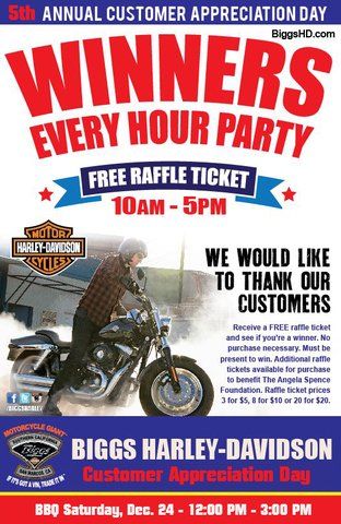 Biggs Harley Davidson Winners Every Hour Partylike