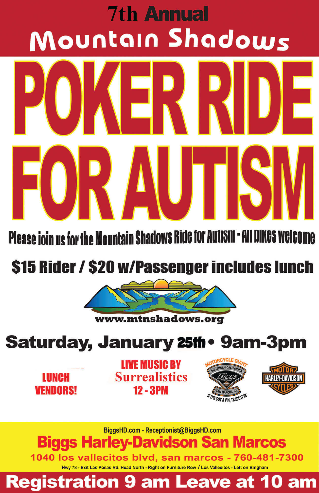 7th Annual Poker Ride For Autism