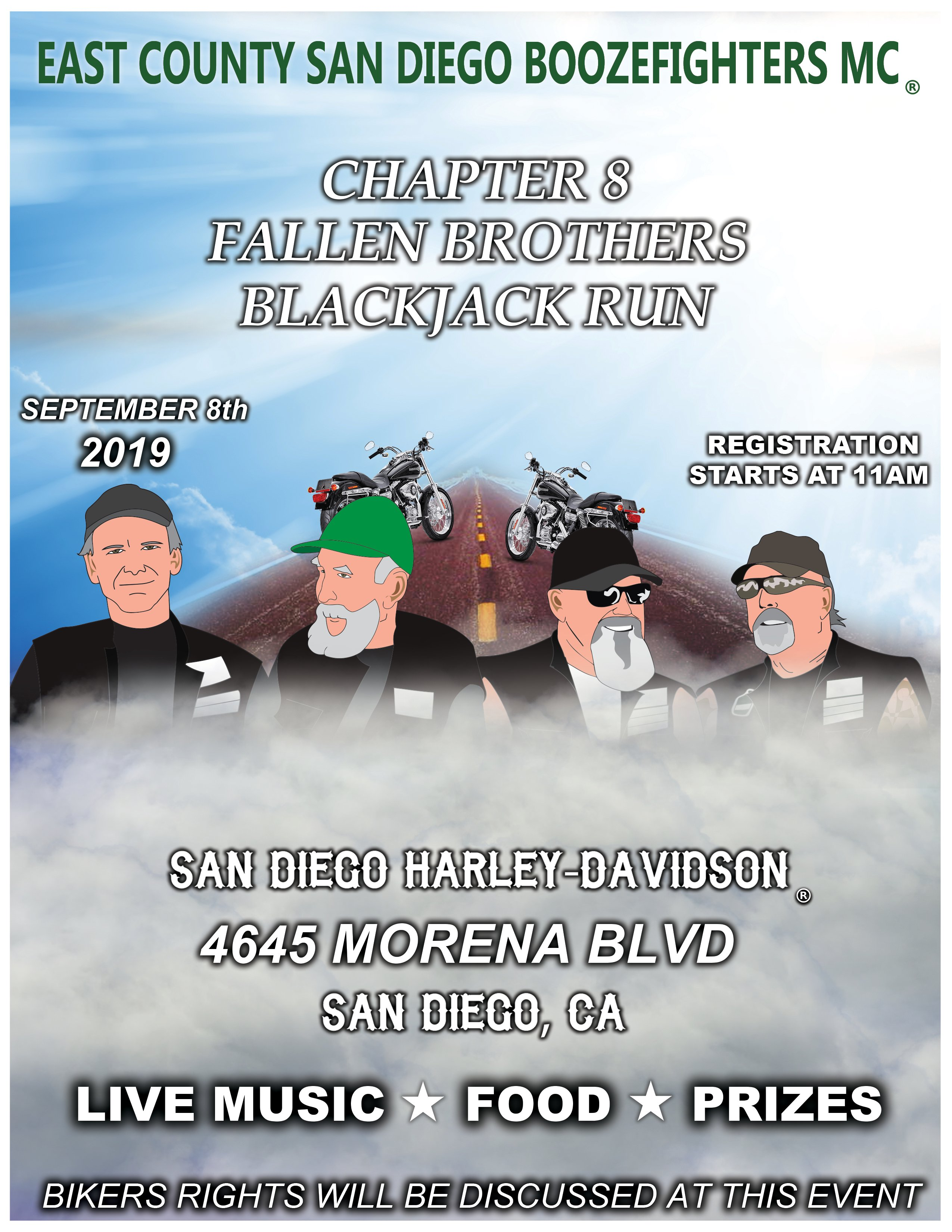 East County Boozfighters MC Fallen Brothers Run