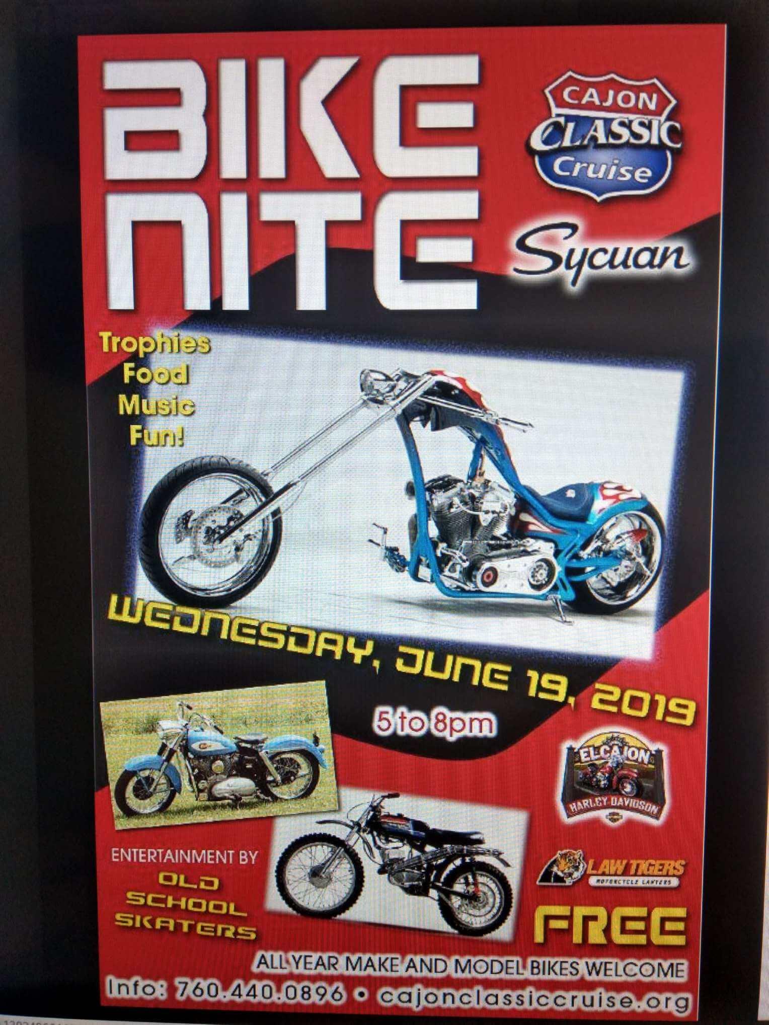 Cajon Cruise Bike Night