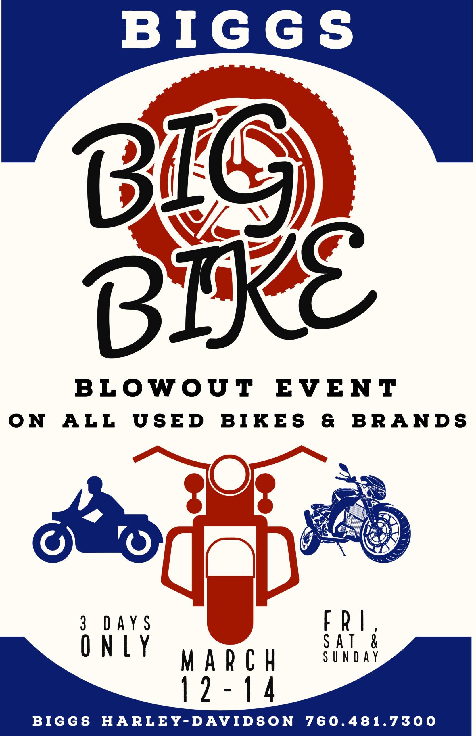 Biggs Big Used Bike Blowout Event