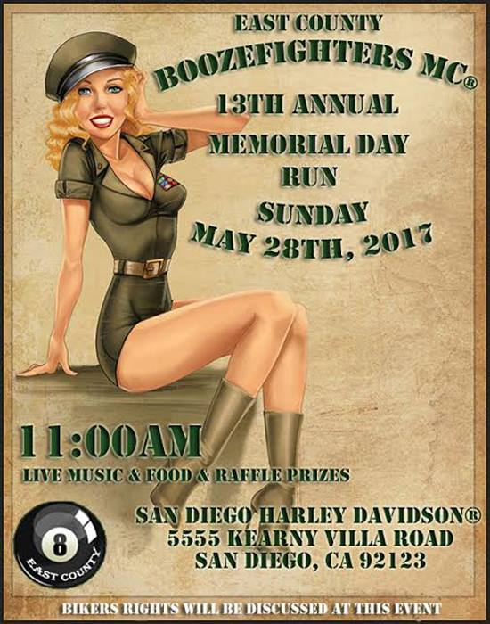 East County Booze Fighters 13th Annual Memorial Day Run
