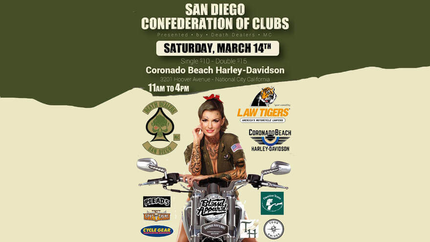 San Diego Confederation Of Clubs Presented By The Death Dealers MC