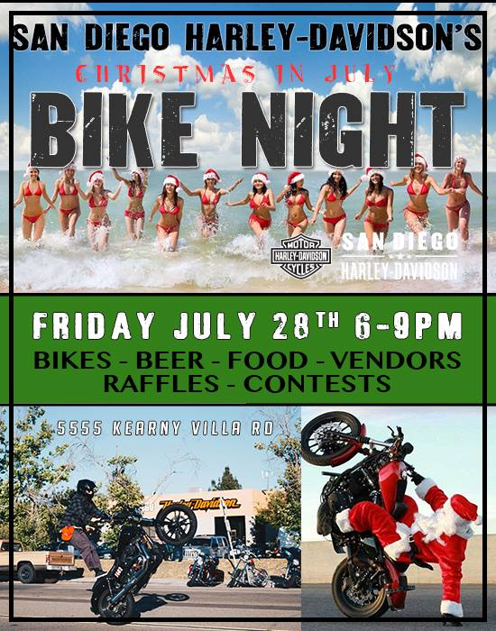 San Diego Harley Davidson's Christmas In July Bike Night