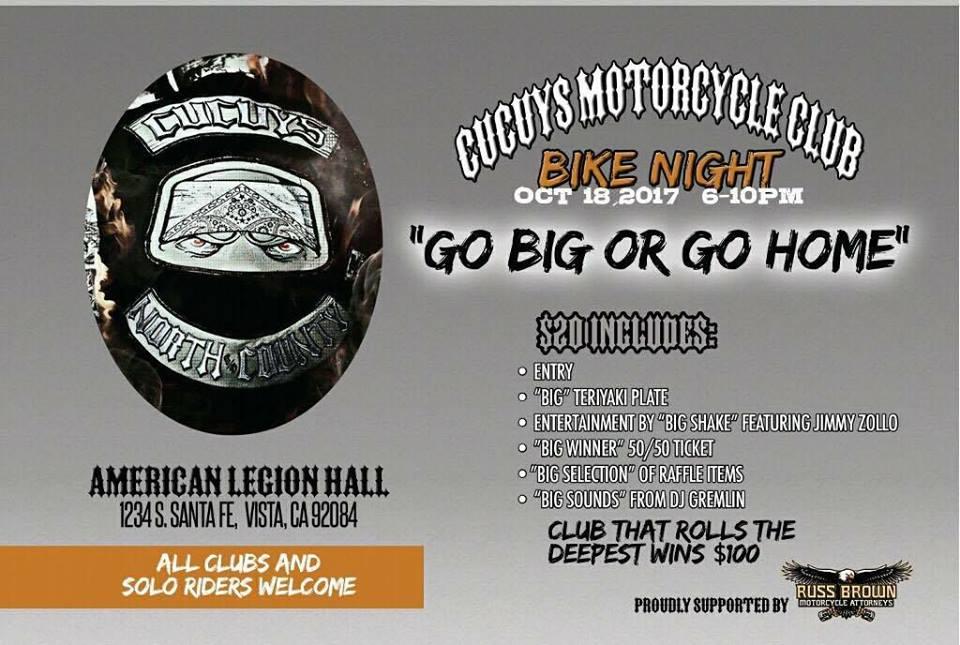 Cucuys Motorcycle Club Bike Night