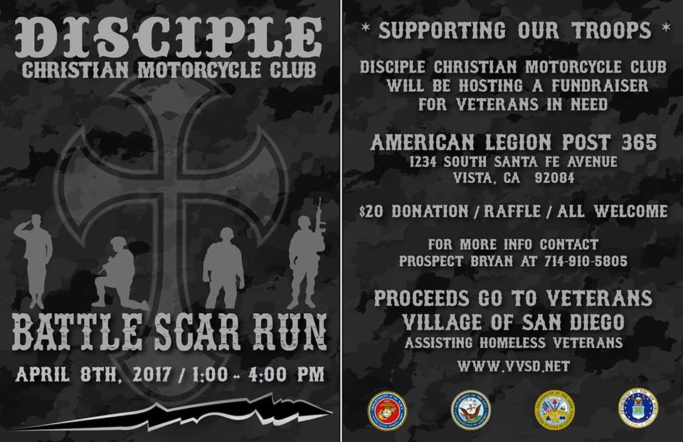 Disciple Christian Motorcycle Club Battle Scar Run