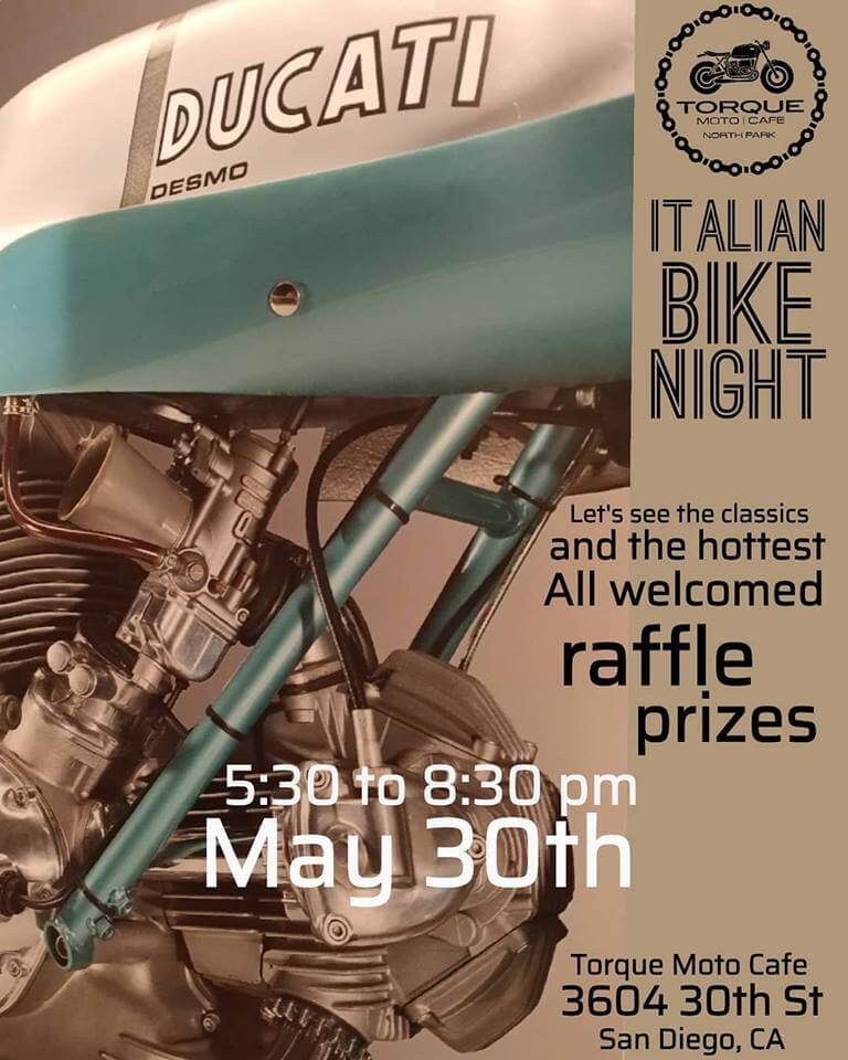 Italian Bike Night Torque Moto Cafe