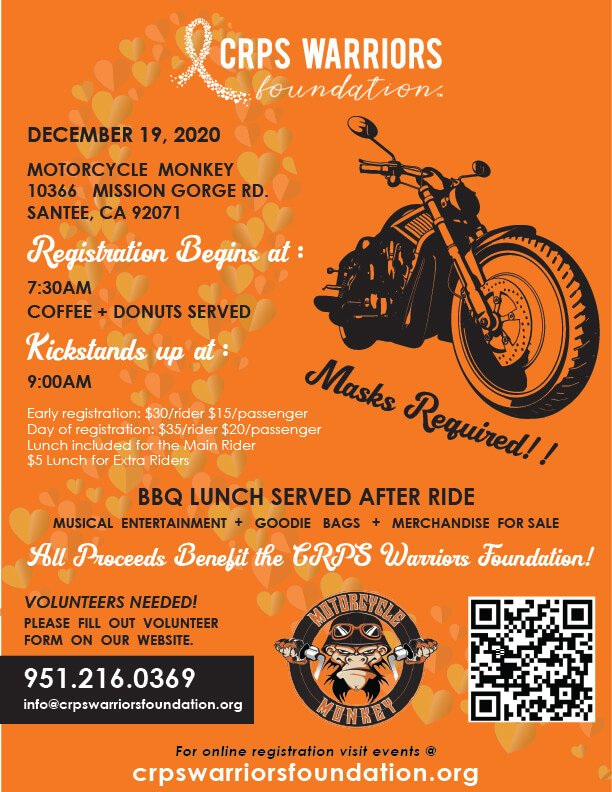 CRPS Warriors Foundation Ride and After Party