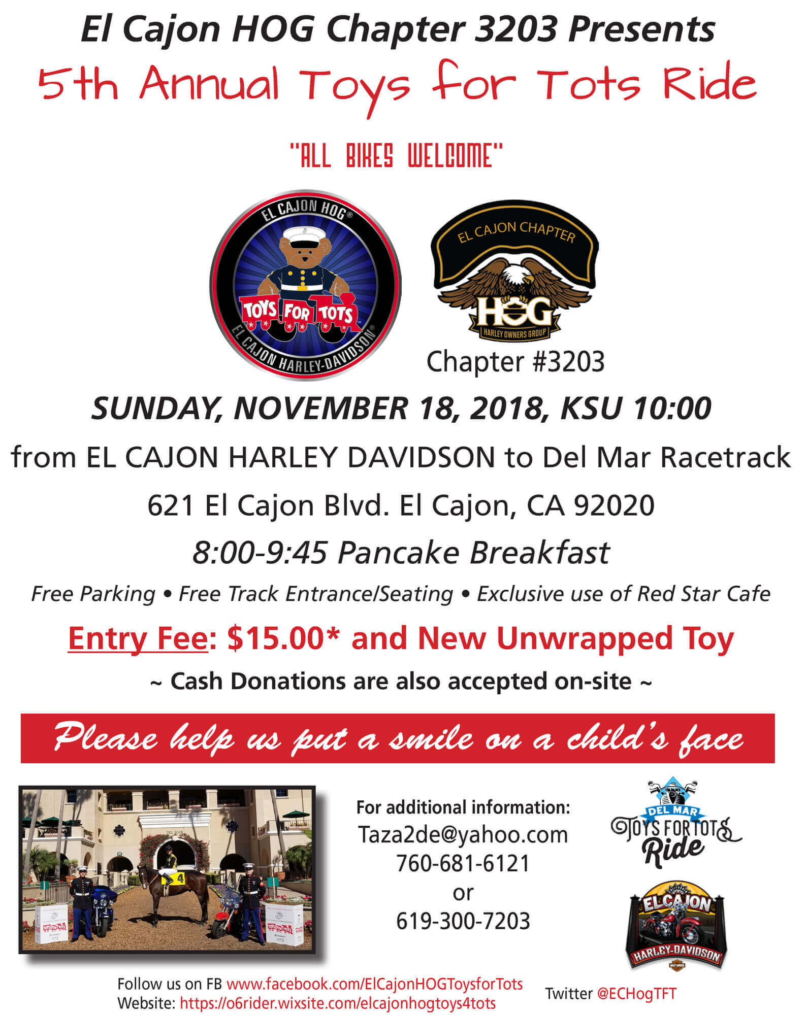 5th Annual Toys For Tots Ride