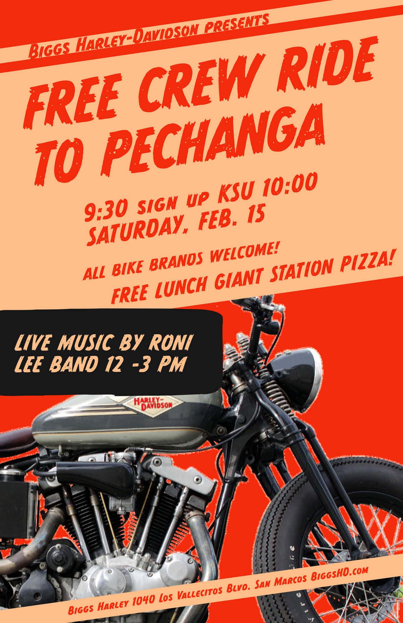 Biggs Harley Free Crew Ride To Pechanga