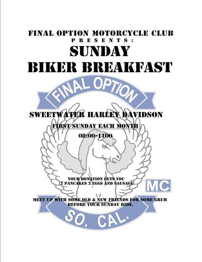 Final Option MC Sunday Biker Breakfast