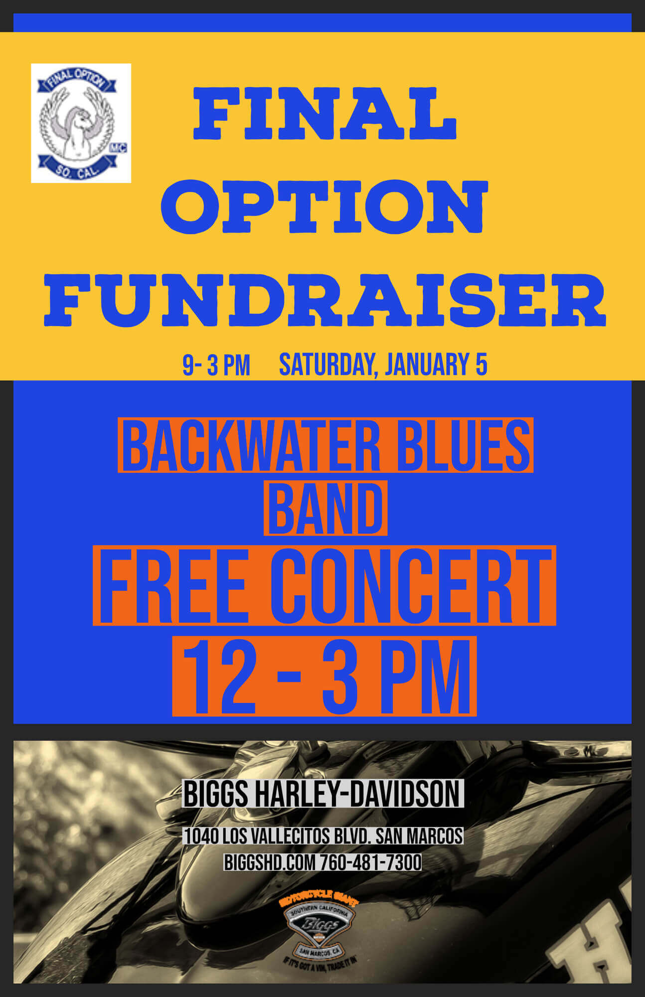 Final Option Fundraiser
