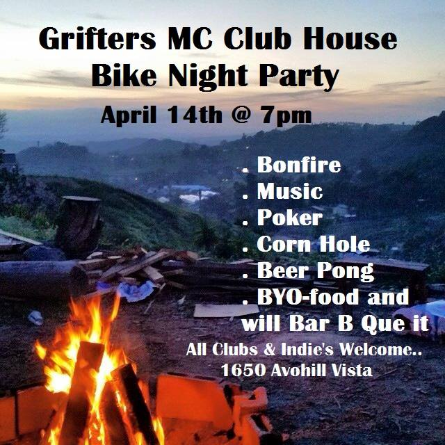 Grifters MC Clubhouse Bike Night Party