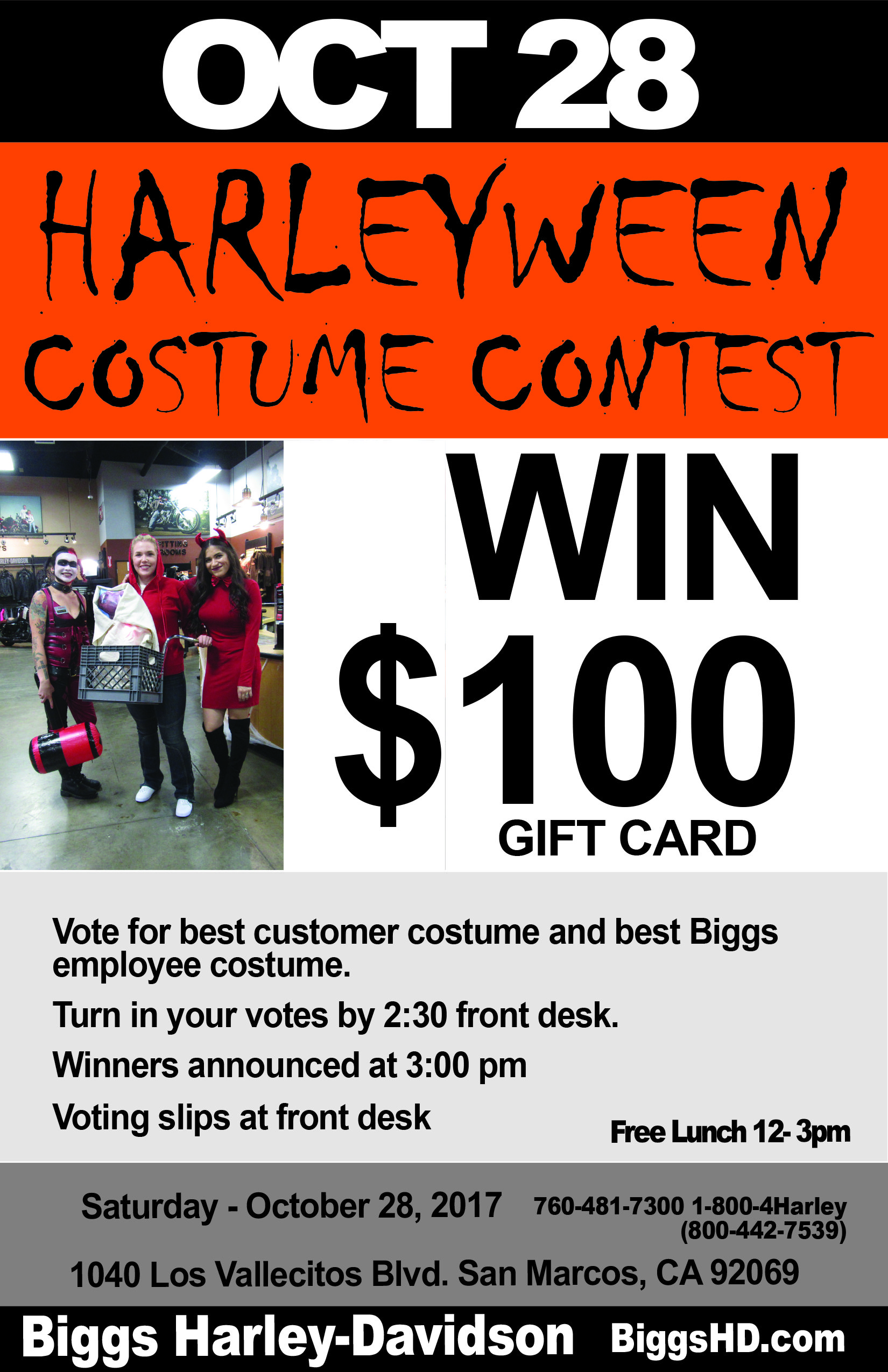 Biggs HarleyWeen Costume Contest