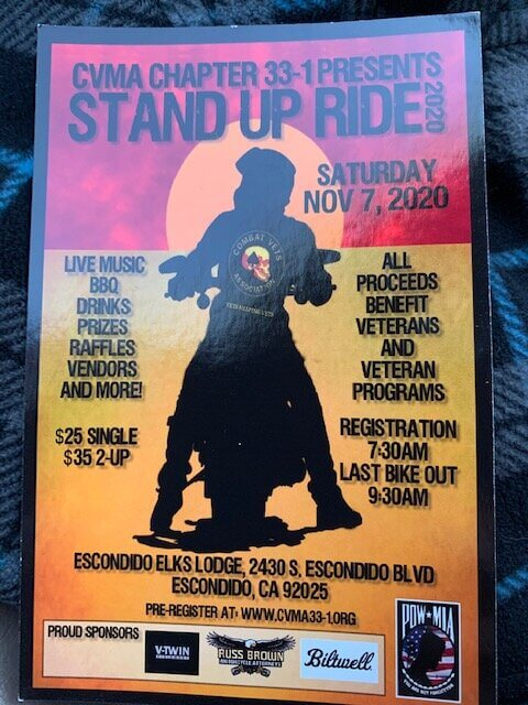 CVMA Chapter 33-1 Presents Stand Up Ride 2020