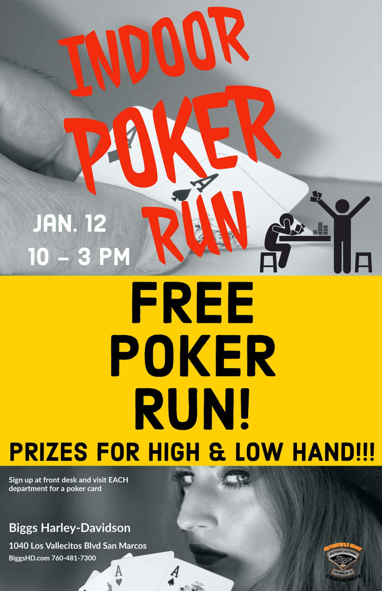 Indoor Free Poker Run