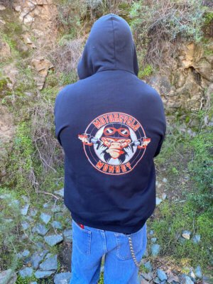 Men's Zippered Hoodie by Jerzees