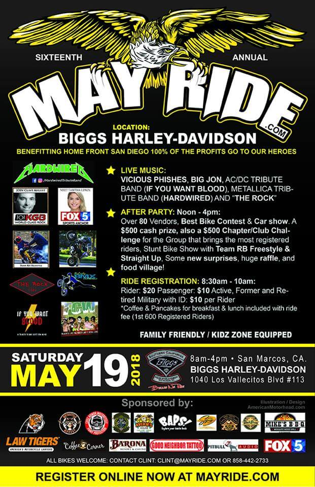16th Annual May Ride And After Party