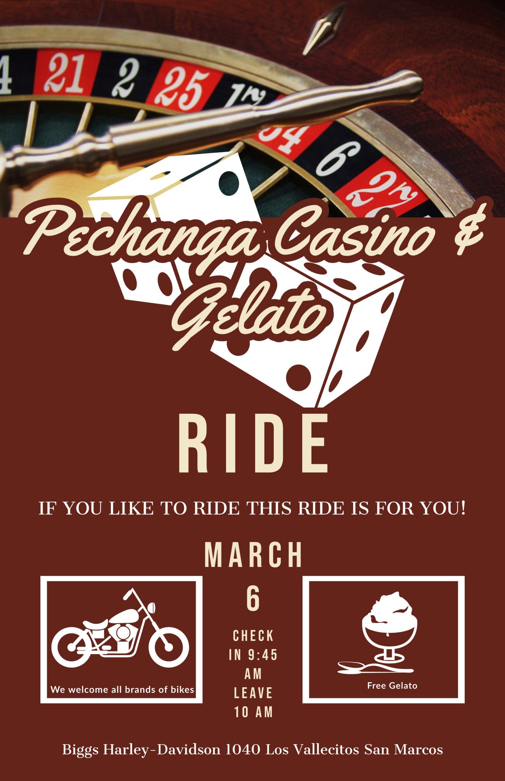 Pechanga Casino & Gelato Crew Ride