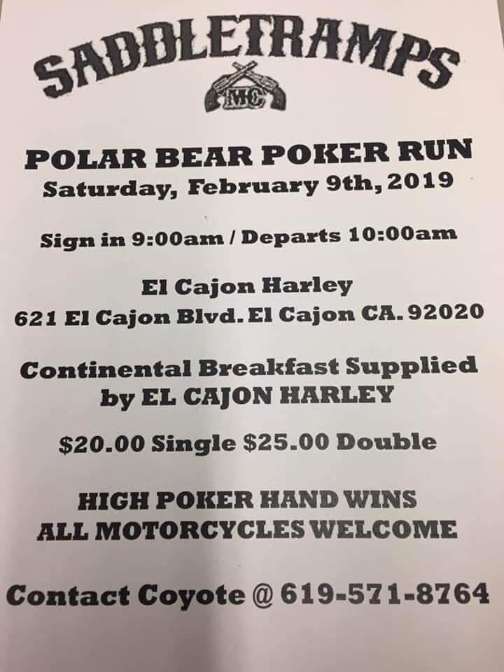 Saddle Tramps Polar Bear Poker Run