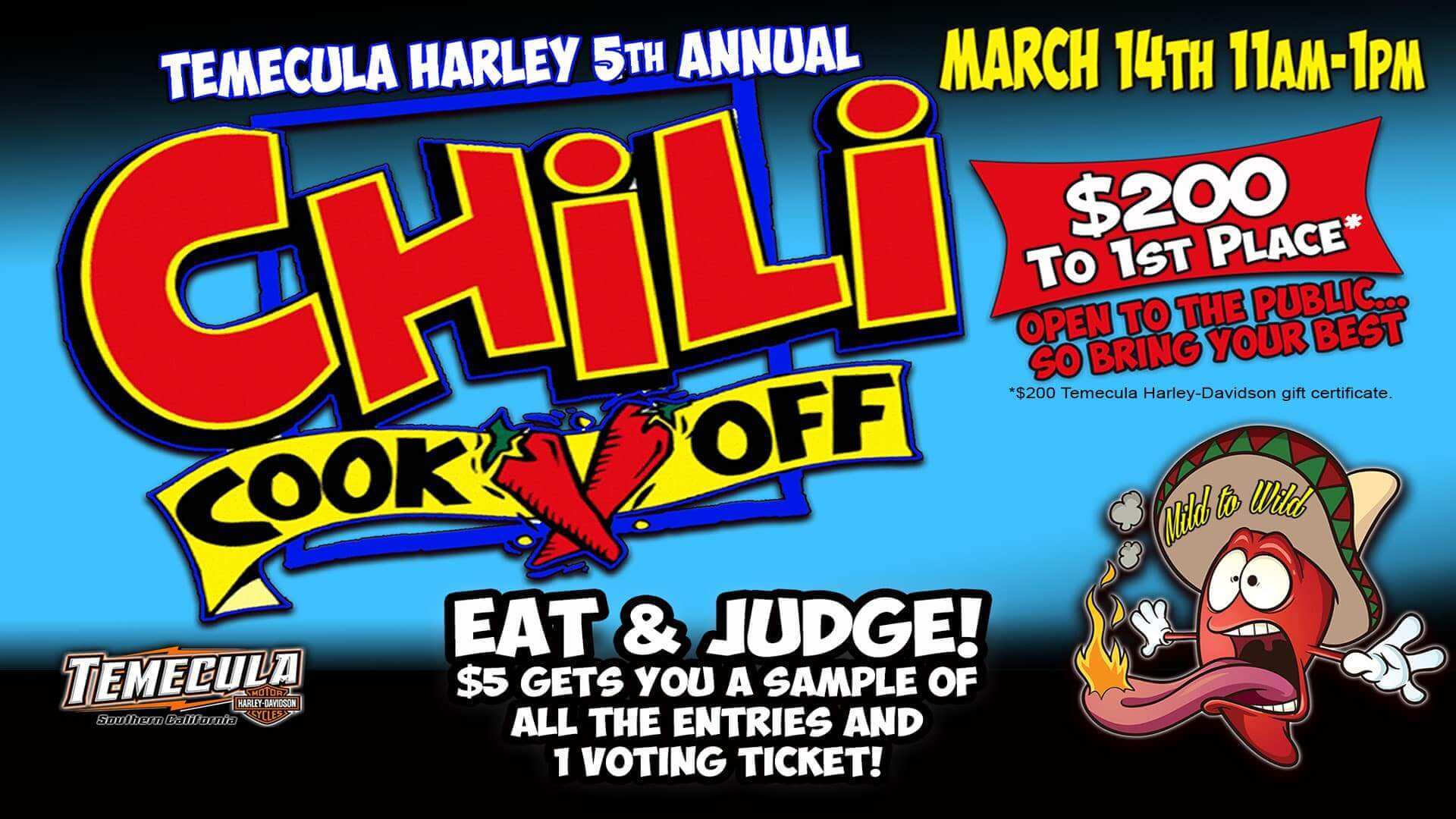Temecula Harley 5th Annual Chili Cook-Off