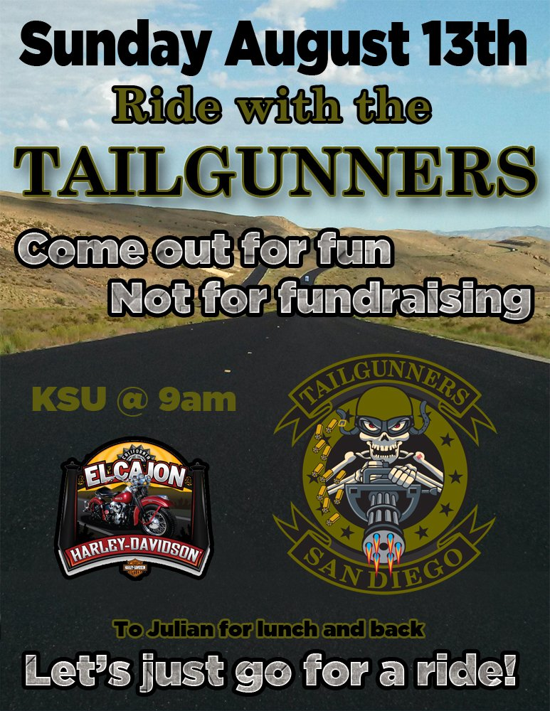 Ride with the Tailgunners