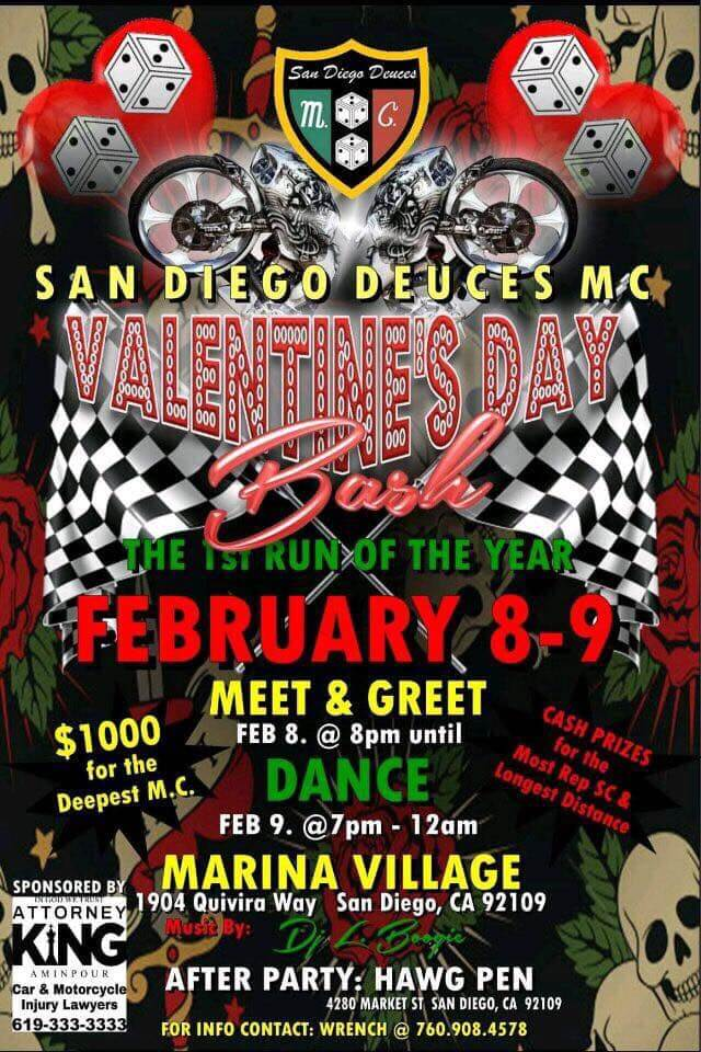 San Diego Deuces MC Valentine's Day Bash