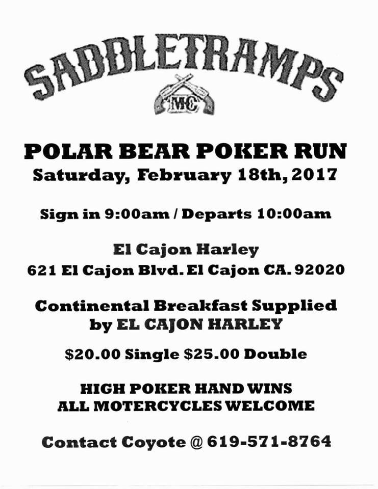 Saddle Tramps MC Polar Bear Poker Run