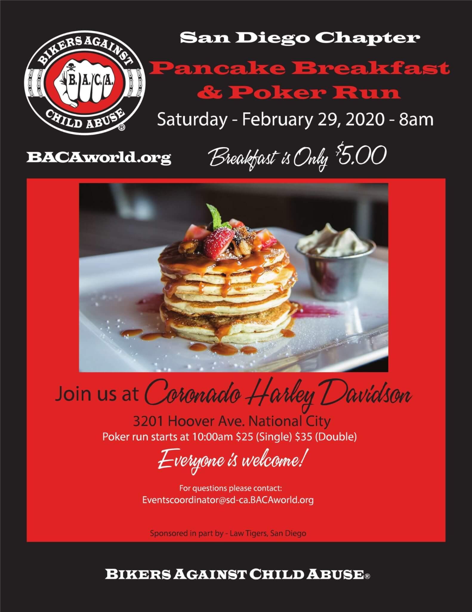 BACA San Diego Chapter Pancake Breakfast & Poker Run