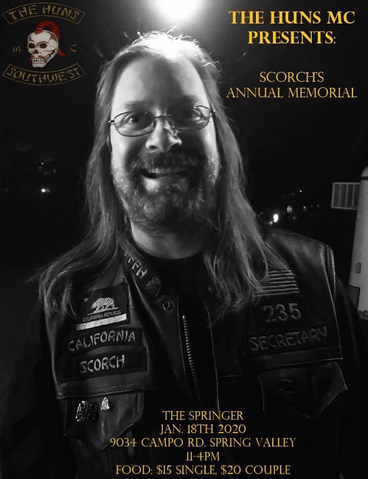 The Huns MC Presents The Annual Scorch Memorial Ride
