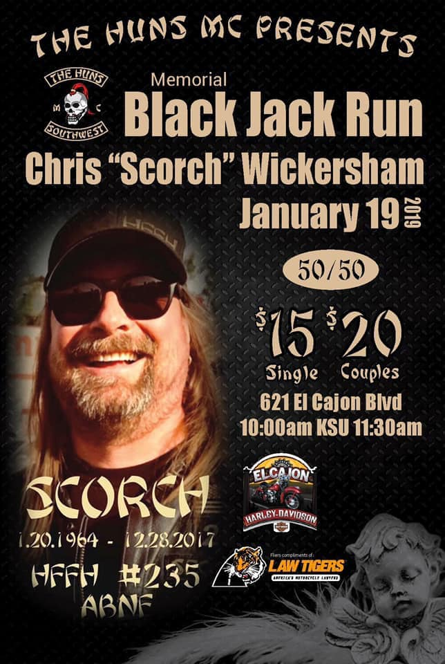 """Scorch"", Memorial Black Jack Run"