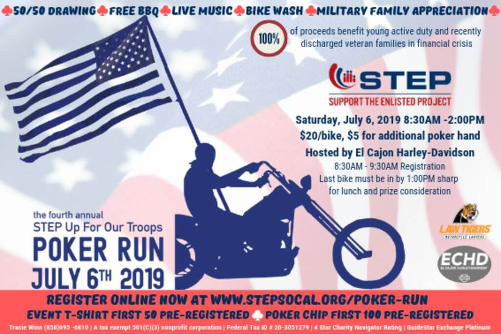 Step Up For The Troops Poker Run