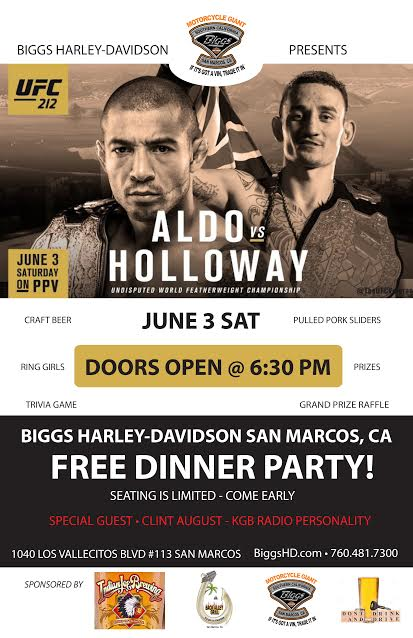 UFC Fight Night With Clint August @Biggs Harley Davidson