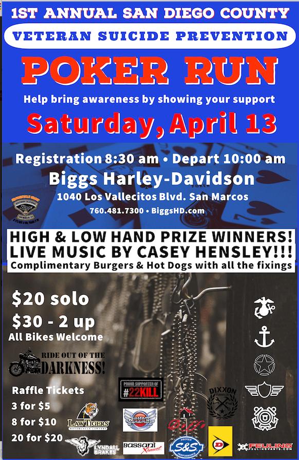 1st Annual Veteran Suicide Prevention Poker Run
