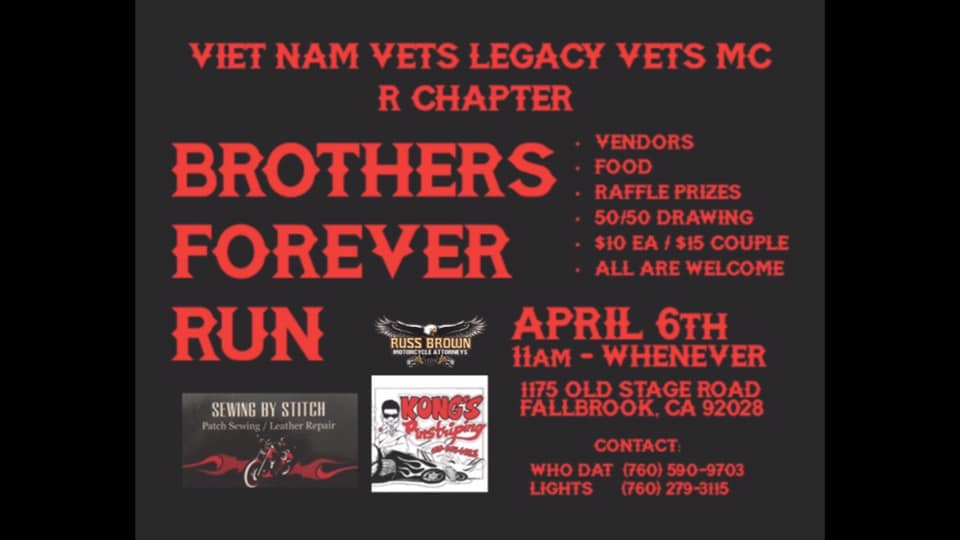Vietnam Vets Legacy Vets Brothers Forever Run