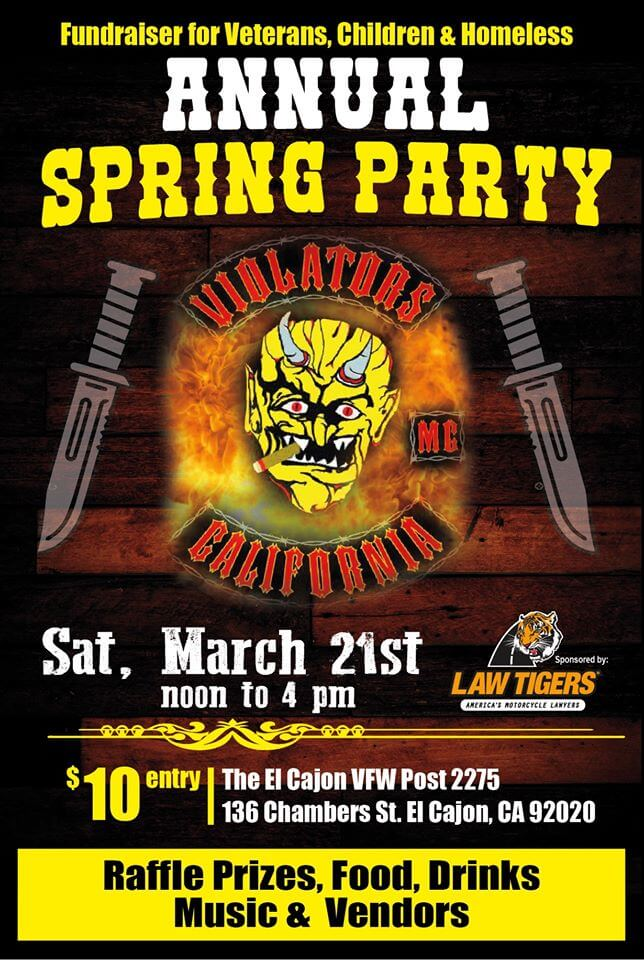 Violators MC Annual Spring Party For Vets, Children and Homeless