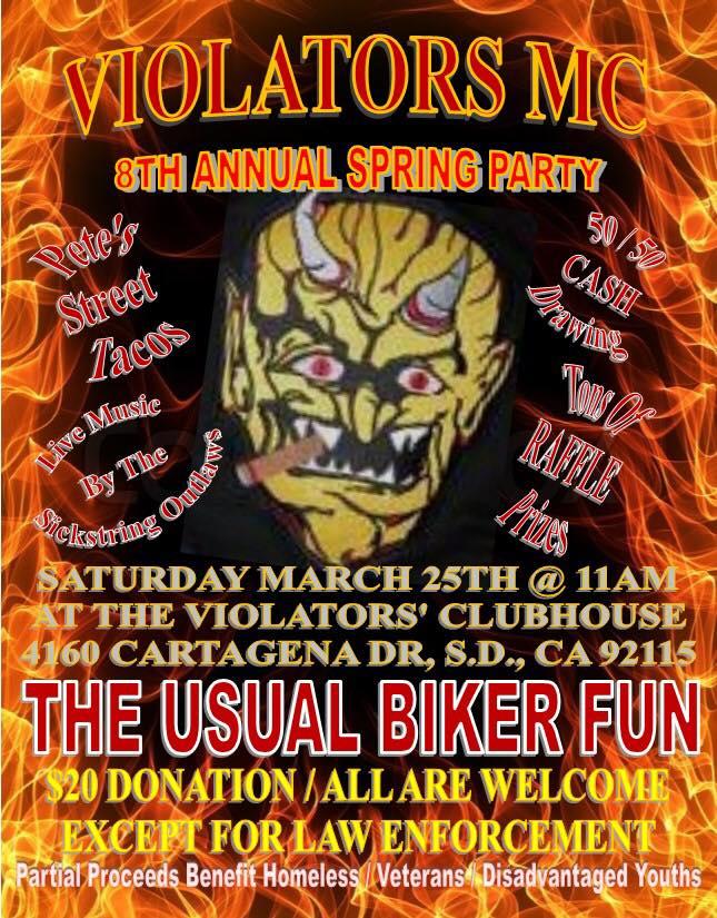 Violators MC 8th Annual Spring Party