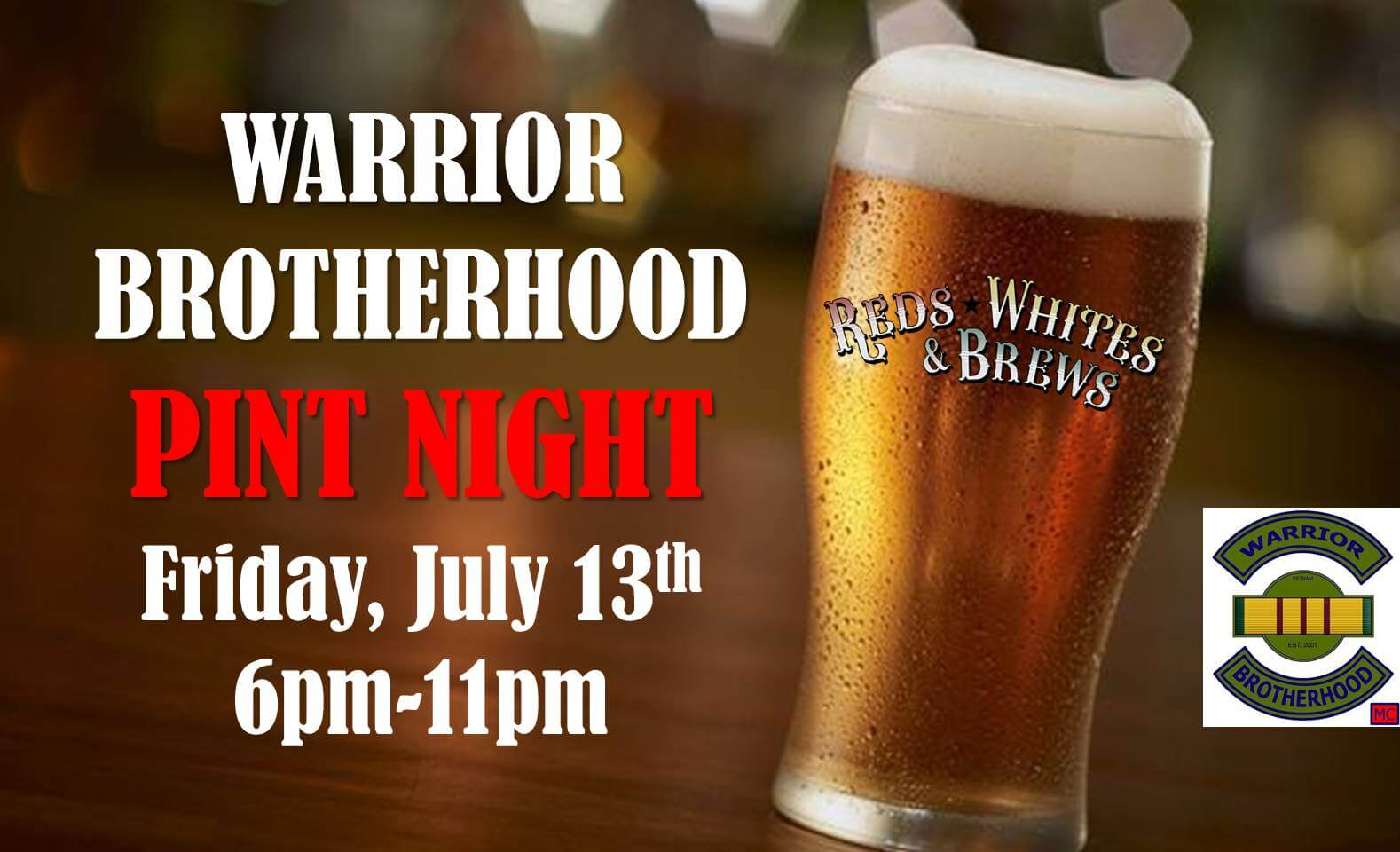 Warrior Brotherhood Pint Night