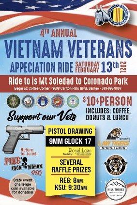 4th Annual Vietnam Vet Appreciation Ride